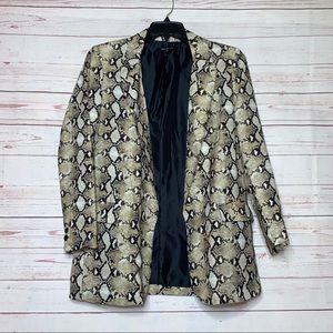 Indefeir Animal Print Long Blazer Coat Size M